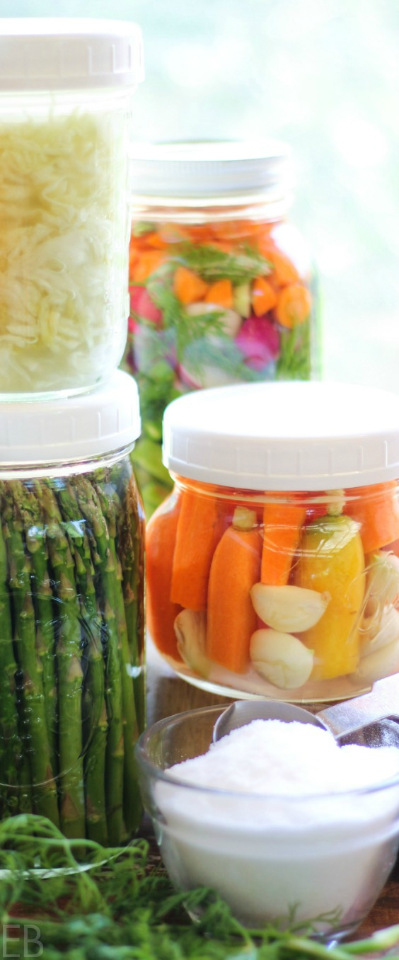 several jars of fermented vegetables