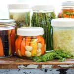 jars of different fermented vegetables