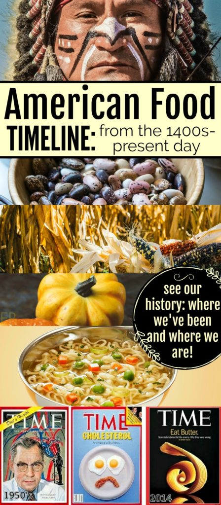 American Food Timeline {from Native people to present day} #foodtimeline #americanfood #americanhistory #foodhistory