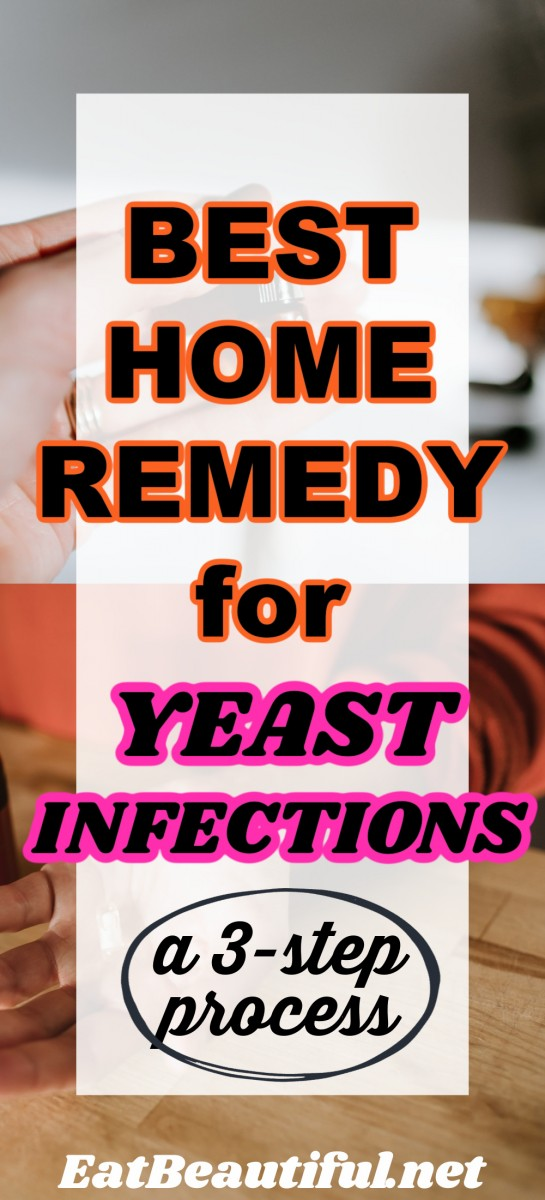 best home remedy for yeast infections over 2 images of essential oil and probiotics