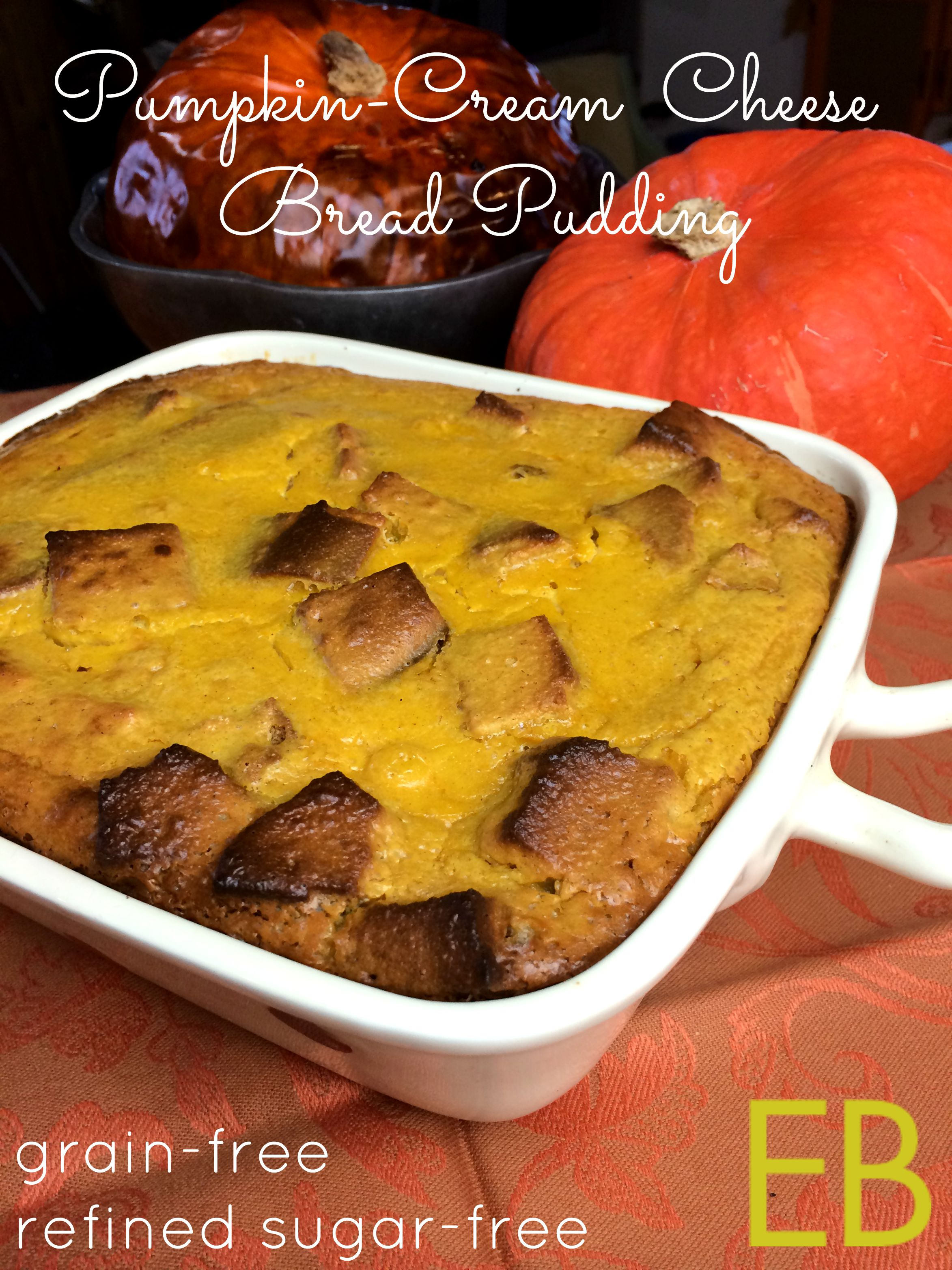 Pumpkin Cream Cheese Bread Pudding