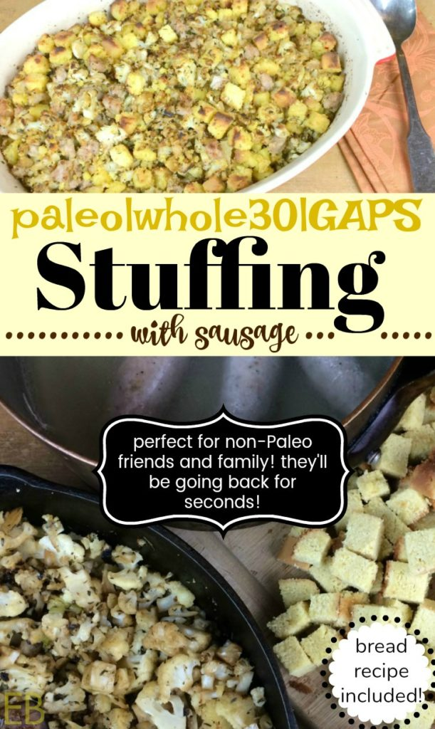 GRAIN-FREE STUFFING RECIPE with SAUSAGE {Paleo, Whole30, GAPS}