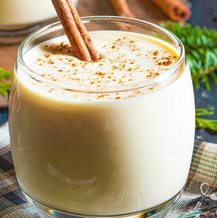 glass of holiday paleo eggnog