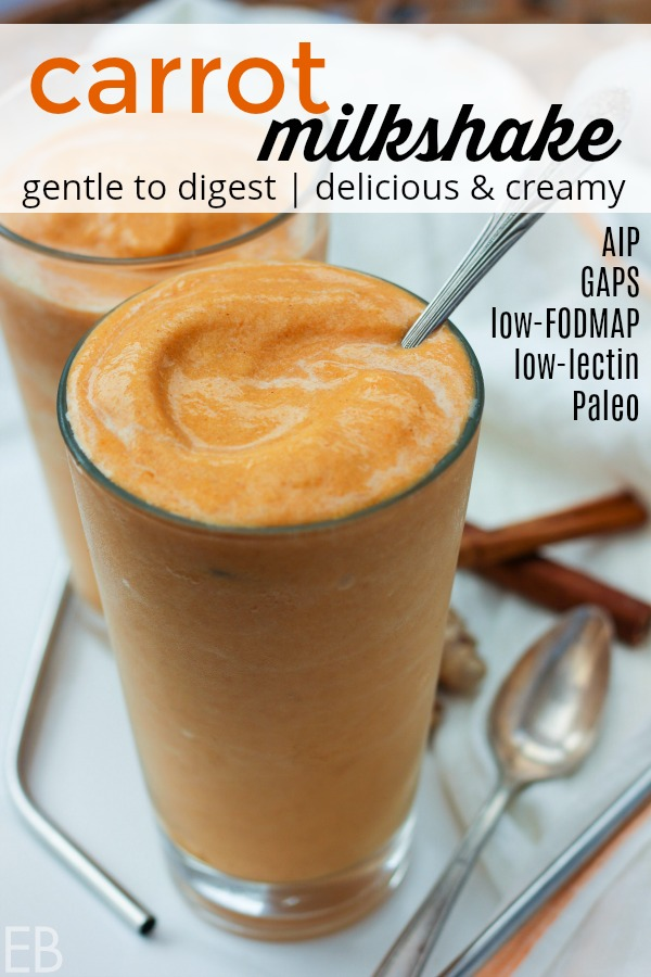 (Sooo good!!) I love that I can have this Carrot Milkshake — GAPS, AIP, Low-FODMAP, Paleo #carrots #milkshake #carrot #aip #gapsdiet #lowfodmap #paleo #smoothie #healthy #dairyfree #fruitfree #lectinfree #dessert #snack #lowlectin #lectins