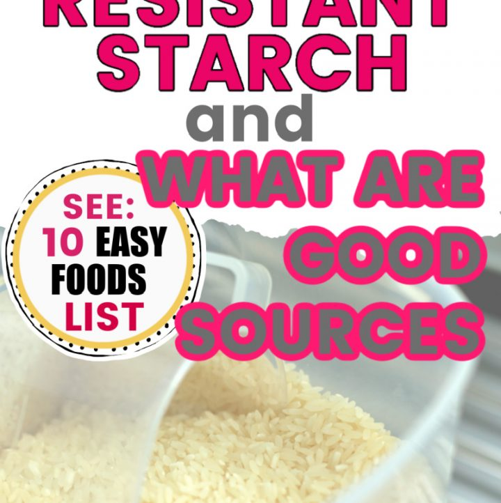 image of rice with what is resistant starch written on top