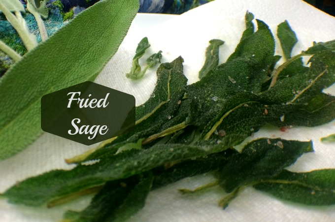 Fried sage leaves are a gourmet snack. They are a lovely embellishment to cheese or meat platters. And they're a special garnish for soups, stews or casseroles. Seasoned with coarse sea salt, my favorite way to eat them is out of hand, crunchy and herbaceous. They are super easy to make, and quick, but technically they're deep fried. So they're good all by themselves, like kale chips, but more exotic.
