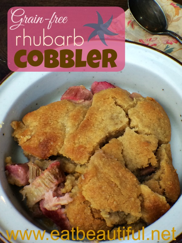 Here's a grain-free, sugar-free cobbler that's the first dessert I personally want when rhubarb season rolls around.