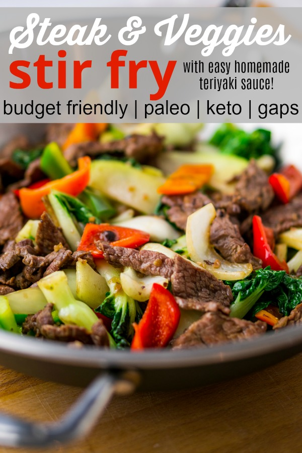 a pan of steak slices and veggies that's keto gaps and paleo