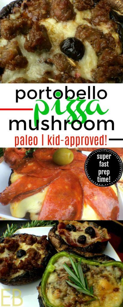 PORTOBELLO MUSHROOM PIZZA {Paleo, gluten-free, GAPS diet, kid-approved!} #familydinnerpaleo #gapsdietdinner #portobellomushroompizza #glutenfreepizza #paleopizza #easyweeknightmeal #ketopizza #ketogenicpizza #lowcarbpizza