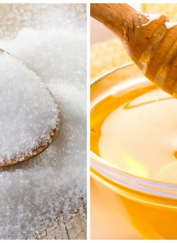 images of white sugar and honey