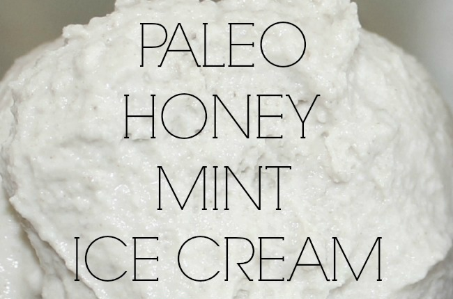 Paleo Honey Mint Ice Cream