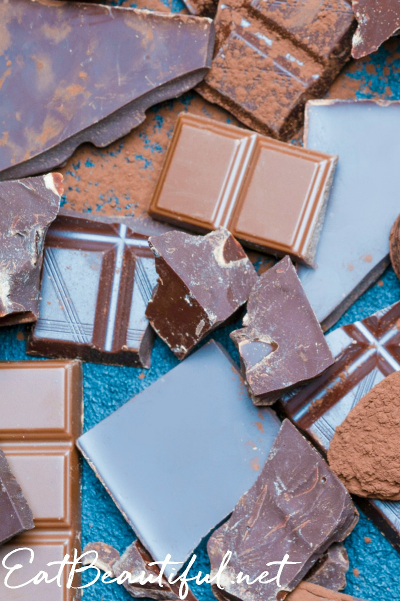 chocolate bars homemade with cocoa butter