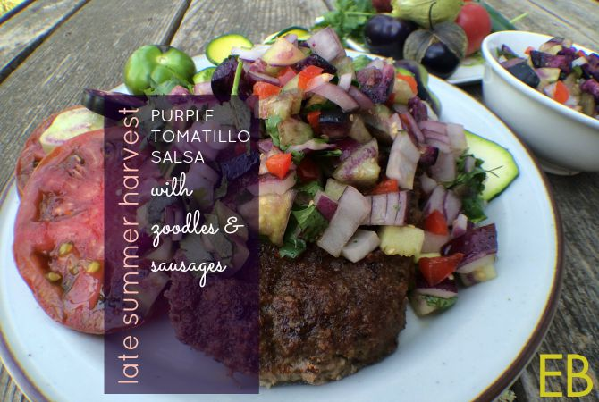 Purple Tomatillo Salsa