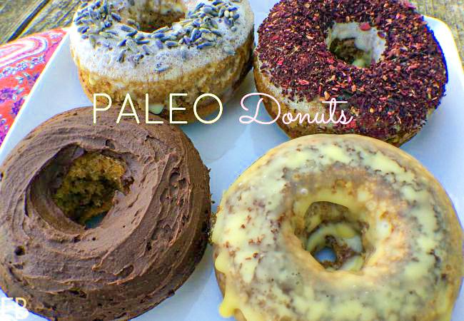 4 different paleo keto donuts
