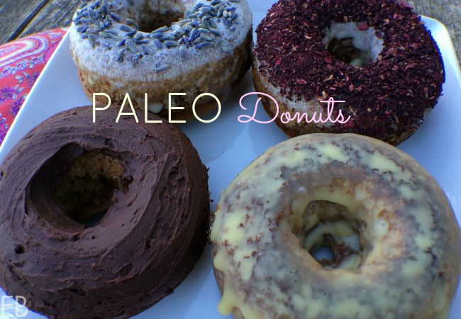 Paleo Donuts ~ GAPS-friendly :: One thing I *love* about this recipe is how fast and easy they are to make. In fact, I tried making them in a blender one time; and they turn out better as the original recipe has it: just one medium size bowl and mixing the few ingredients by hand. They turn out really light, a bit sponge-y and with the glaze, they are cake meats healthy candy- so yumm!