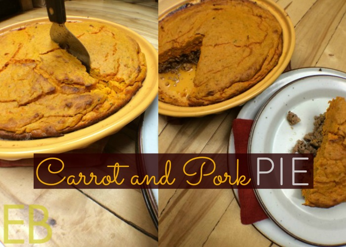 Carrot and Pork Pie