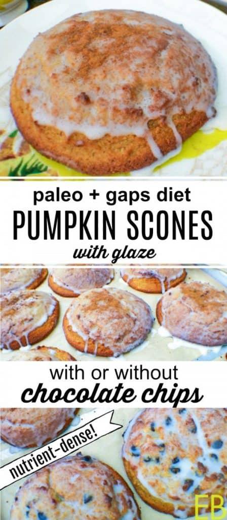a tray of paleo pumpkin scones