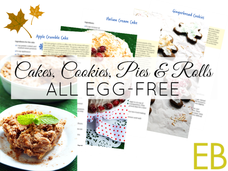EGG-FREE baked goods, AIP, Paleo, Gluten-free and GAPS