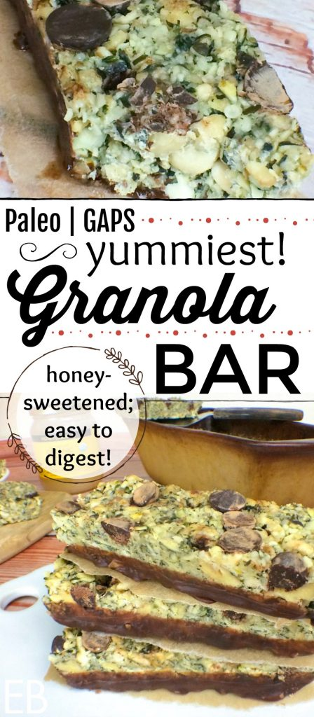 Paleo Granola Bars {GAPS Diet-friendly!, too good!} These are SOOO delicious!! You'll love the easy-to-digest nuts and/or seeds, allergy-friendly recipe and how your family can't get enough of them! #paleo #paleosnack #gapsdiet #paleogranola #glutenfreegranolabar