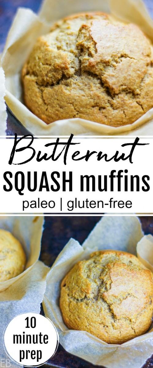 butternut squash muffins in baking pan