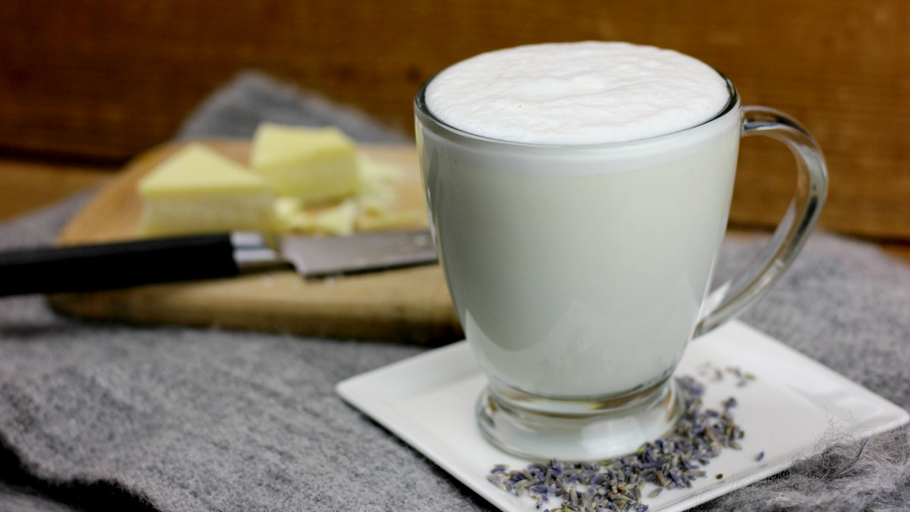 Lavender White Chocolate Steamer Paleo Primal Gaps Dairy