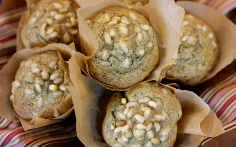 Rosemary-Pine Nut Muffins {with COCOA BUTTER}- Paleo & GAPS
