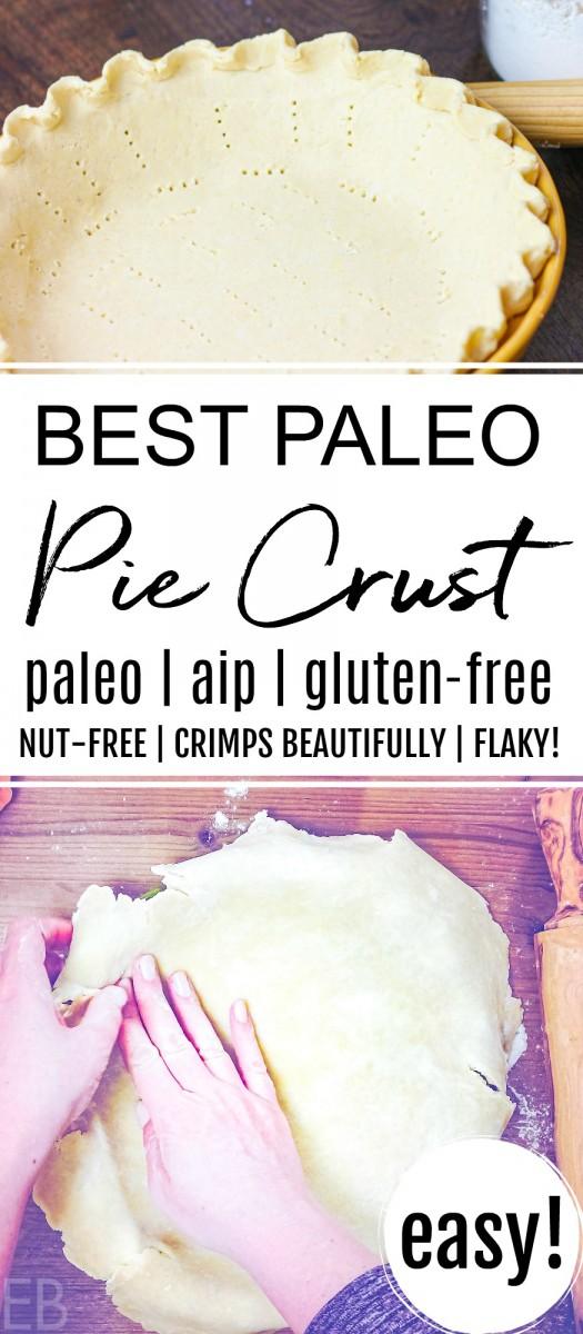 paleo pie crust lining a pie plate