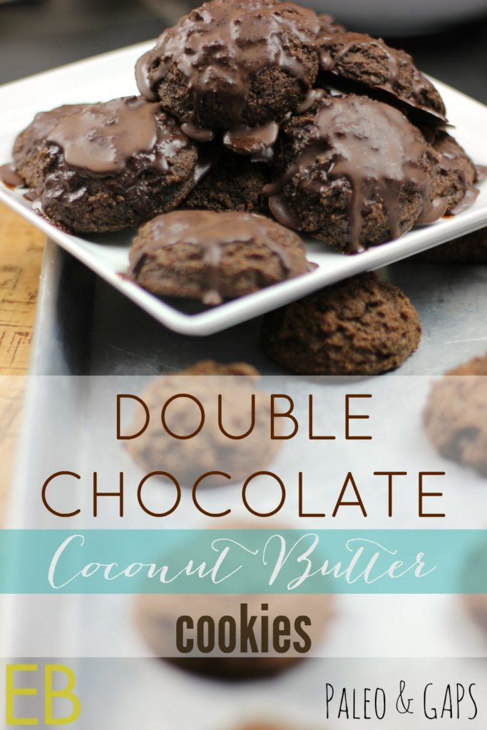 Double Chocolate Coconut Butter Cookies~ Paleo, GAPS