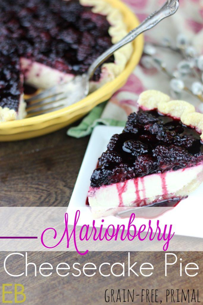 Marionberry Cheesecake Pie