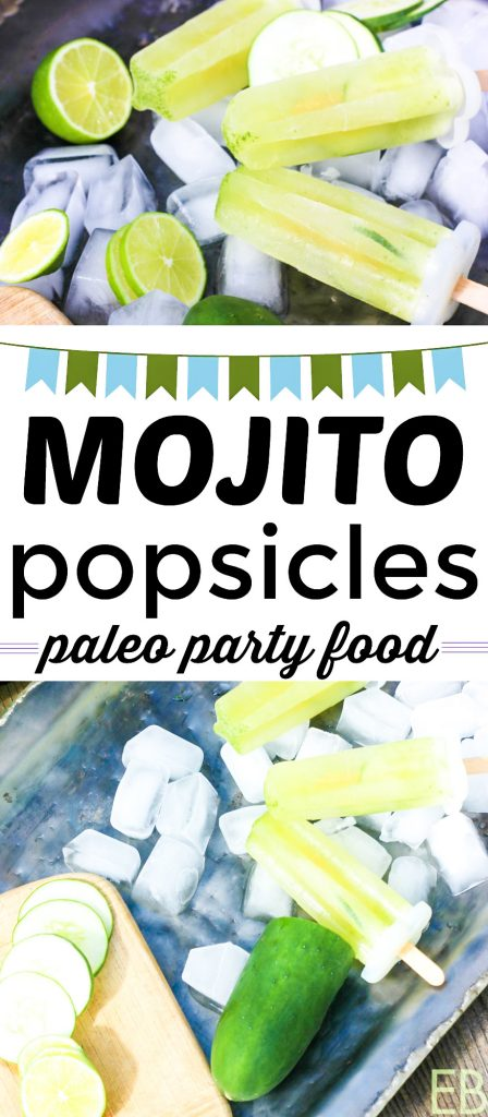 tray with popsicles paleo mojito