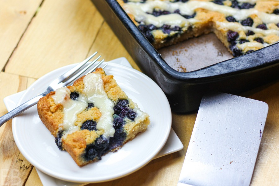 one slice of aip lemon blueberry coffeecake