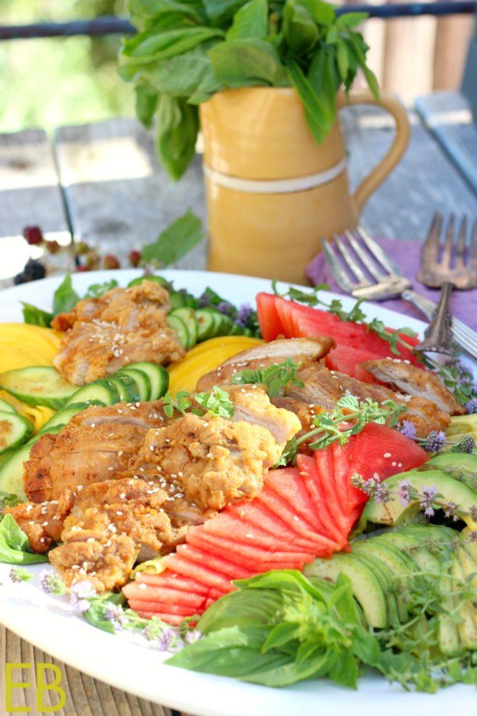 Vietnamese Fried Chicken Salad