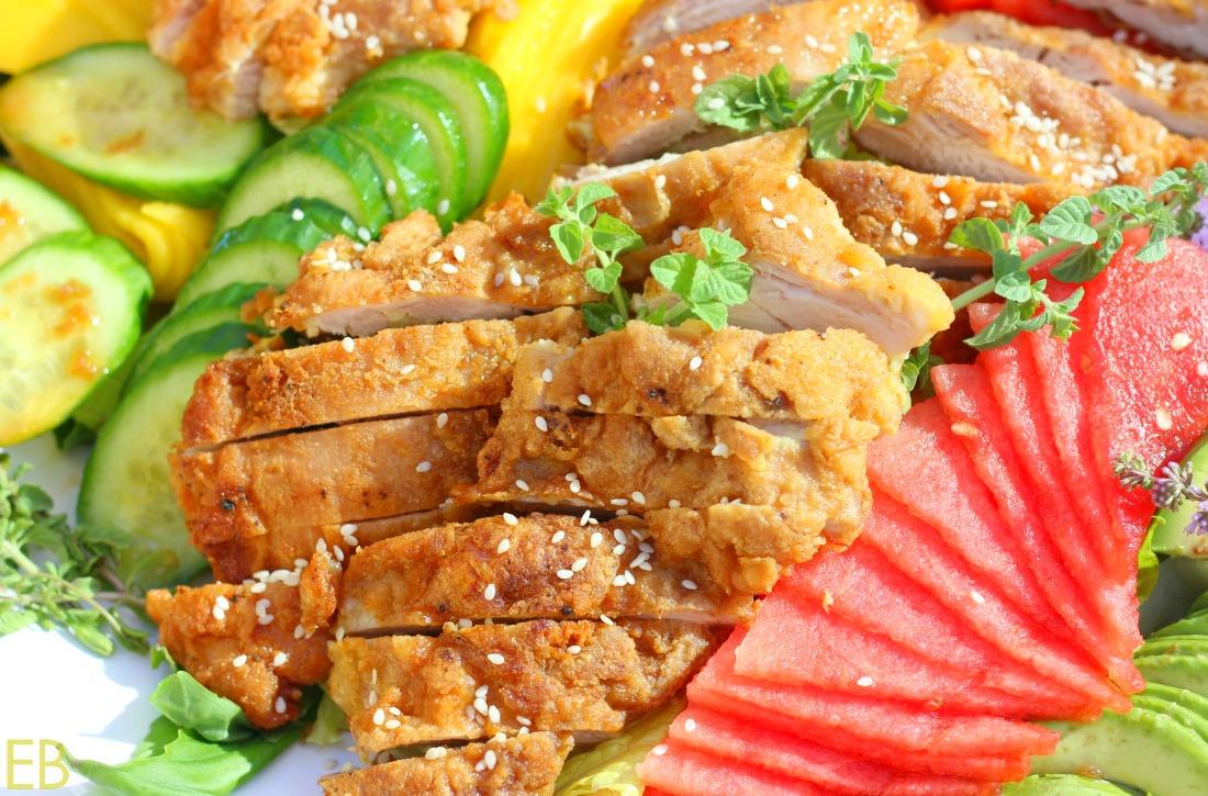 Vietnamese Fried Chicken Salad (Paleo, Whole30)