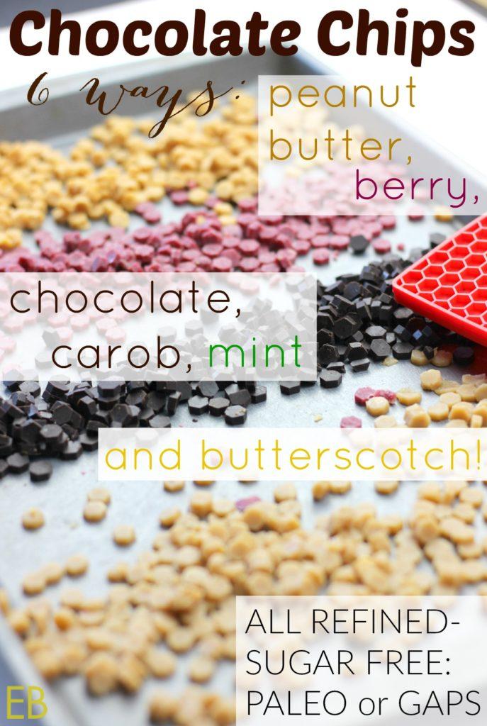 Homemade CHOCOLATE CHIPS 6 Ways