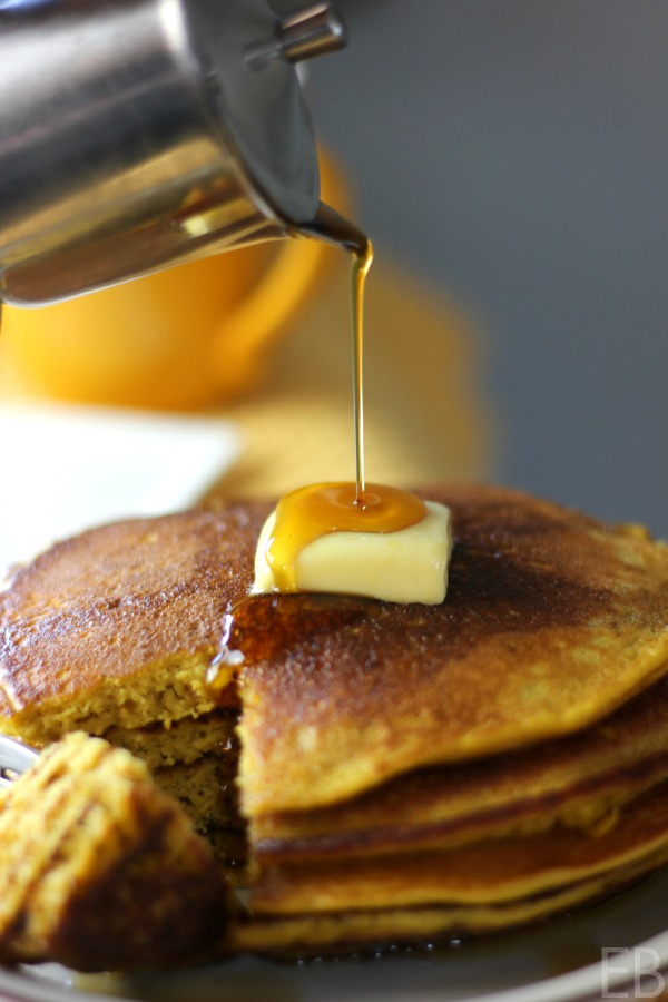 Paleo Pumpkin Pancakes ~ These are THE best, a family favorite perfected! #paleopancakes #bestpancakes #cassavaflour #grainfreepancakes #pumpkinpancakes #resistantstarch