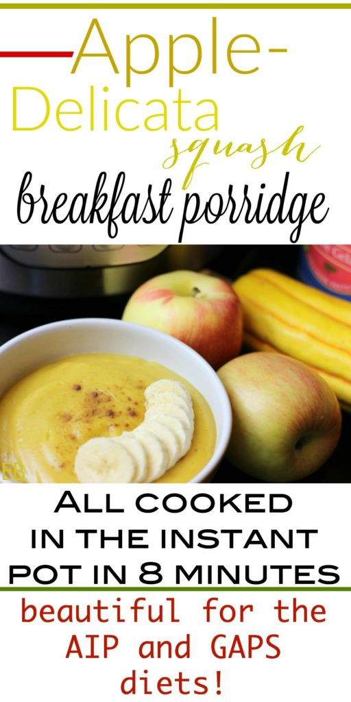 Apple-Delicata Squash Breakfast Porridge- AIP, GAPS, Paleo (or chilled as pudding for lunches and snacks)