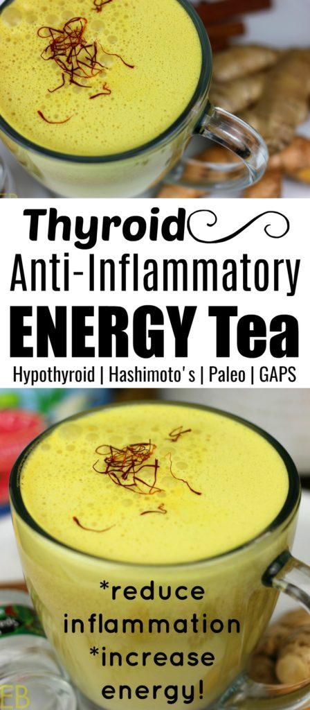 Thyroid Anti-Inflammatory Energy Tea #hashimotostea #hypothyroid #antiinflammatorytea