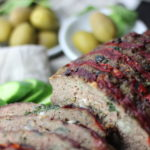 Greek Meatloaf with feta and mint