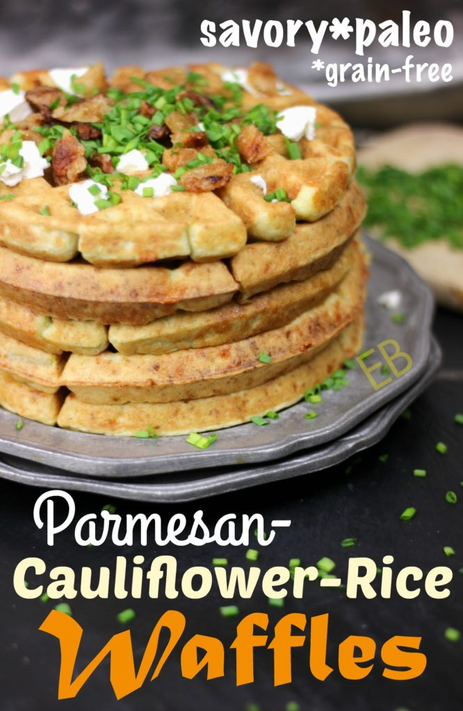 Savory Parmesan-Cauliflower Waffles {Paleo}