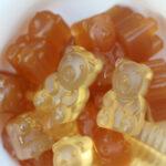 close up view of herbal tea gummies
