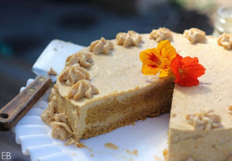 "AIP Pumpkin Cake {dairy-free, nut-free, egg-free} with AMAZING ""buttercream"" frosting"