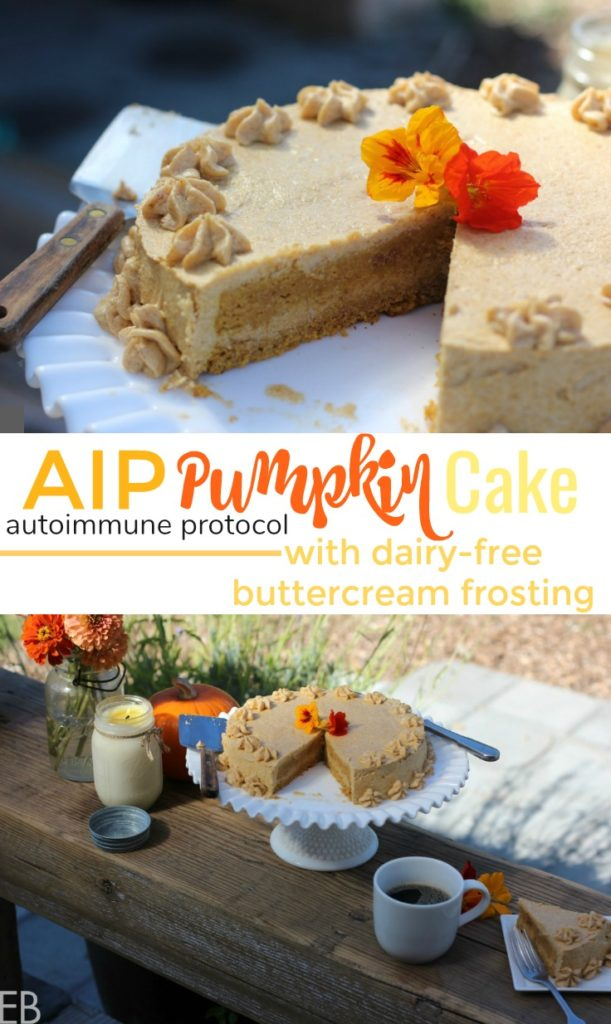 "AIP Pumpkin Cake {dairy-free, nut-free, egg-free} with AMAZING ""buttercream"" frosting! (SO excited to finally have a great AIP cake and frosting recipe!!!)"