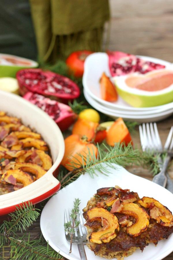 AIP Whole30 Pork, Apple and Delicata Squash BREAKFAST CASSEROLE