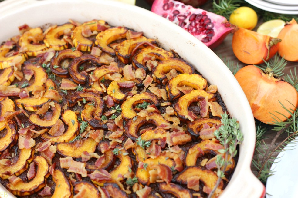 AIP Pork, Apple & Delicata Squash BREAKFAST CASSEROLE with sage and thyme {egg-free, grain-free} #aipbreakfastcasserole #aipbreakfast #aipcasserole #autoimmuneprotocol #paleoeggfree #paleoeggfreecasserole #paleoeggfreebreakfast