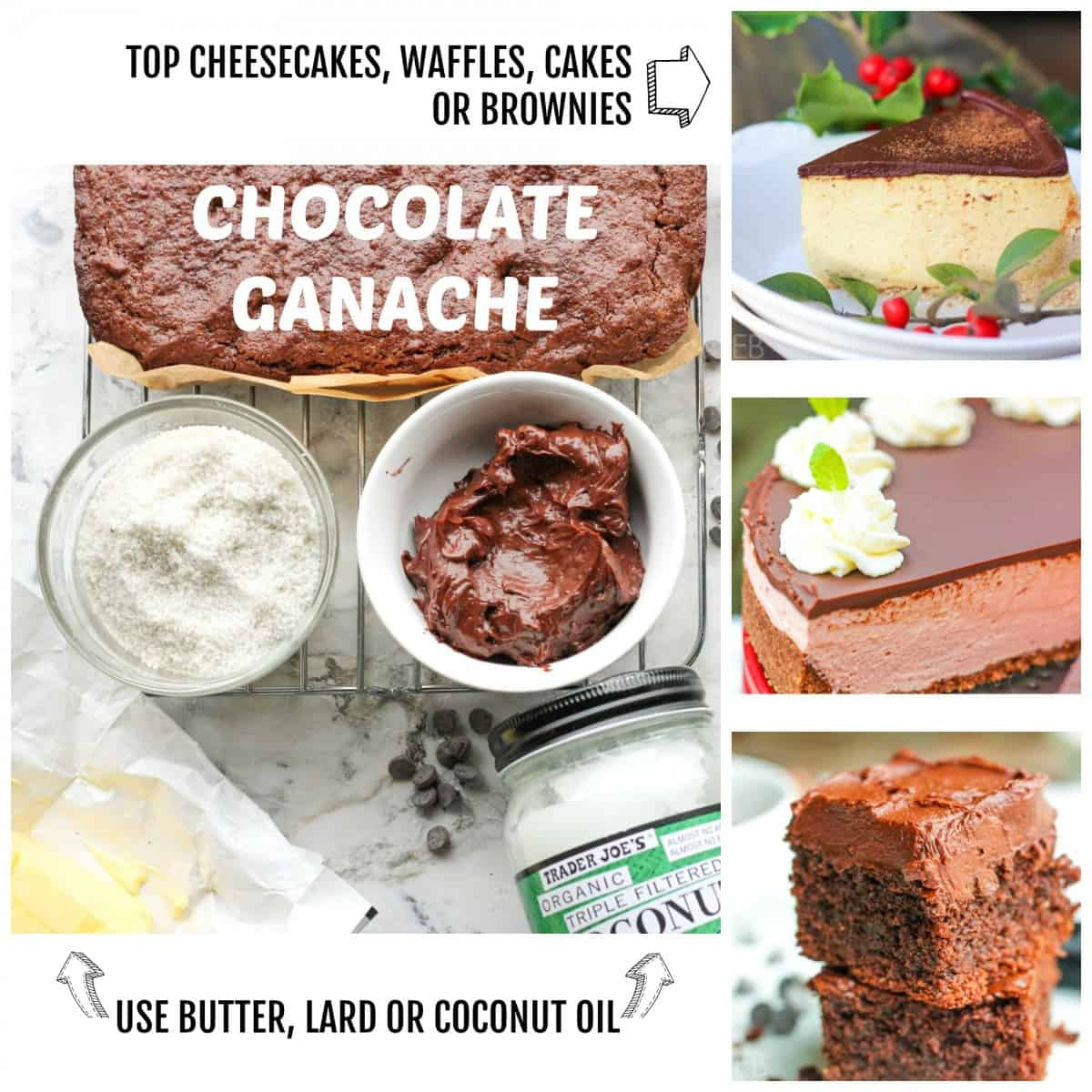 chocolate ganache collage