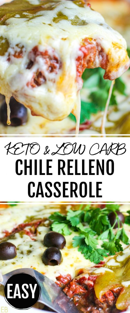 keto low carb chile relleno casserole being dished up with a spatula