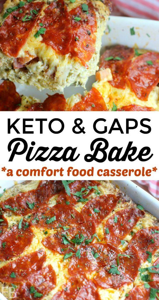 KETO Pizza Bake {GAPS Diet too!} #easyketo #keto #gapsdiet #easypaleo #primal #highfat #ketodinner