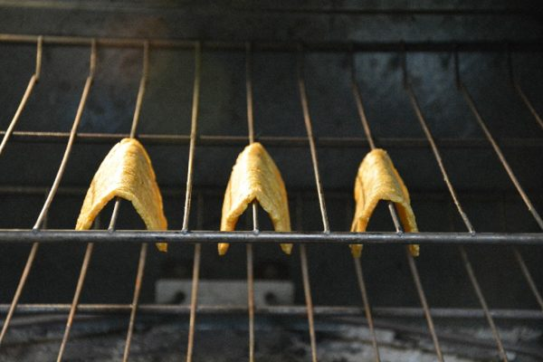 Plantain tacos in oven