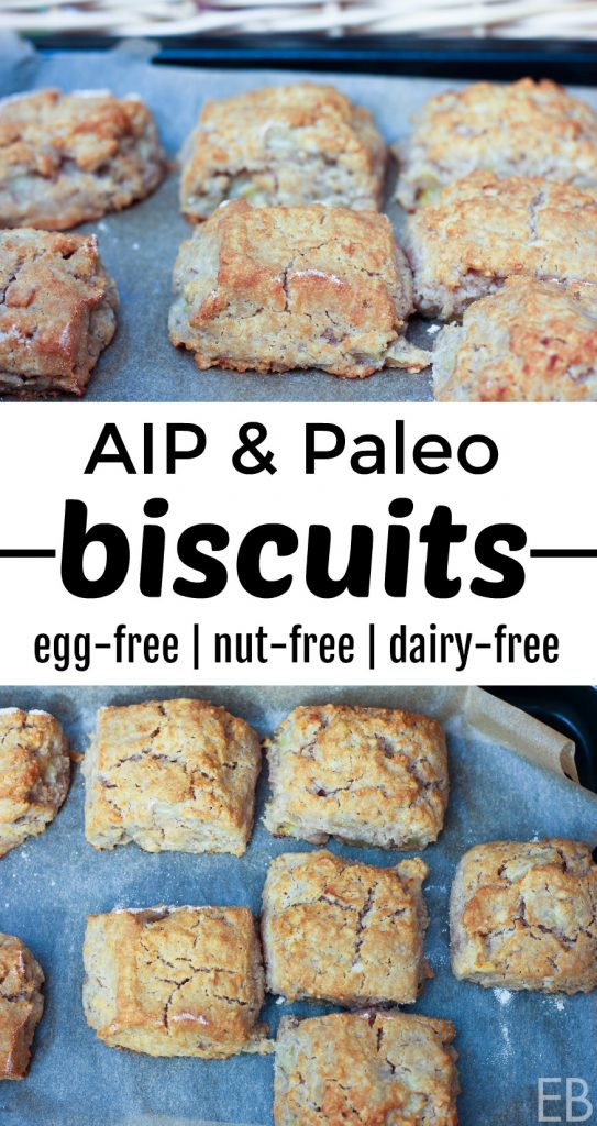 AIP Biscuits {and Paleo} egg-free | nut-free | dairy-free ~ You'll love having flaky, tender biscuits again! Delicious alongside breakfast, lunch or dinner! #aip #aipbiscuits #eggfree #nutfree #dairyfree #autoimmuneprotocol