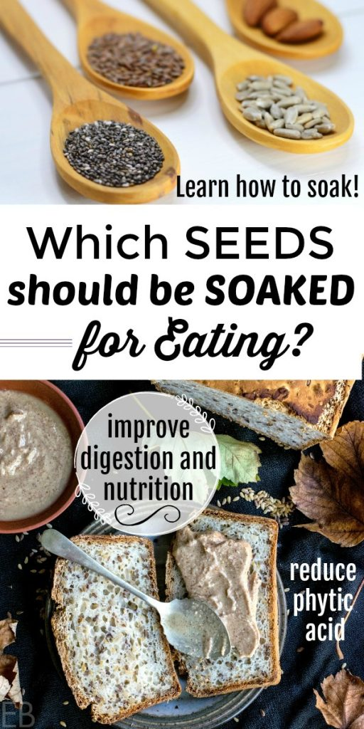 Which Seeds should be Soaked for Eating — and HOW {for nutrition, digestion and culinary purposes} #soaking #seeds #digestion #gapsdiet #paleo #soakingseeds #nutrition